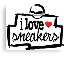 I Love Sneakers J11 Concords Canvas Print