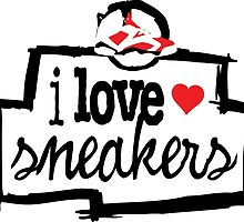 I Love Sneakers Carmines by tee4daily