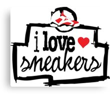 I Love Sneakers Carmines Canvas Print