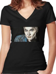 Spike - Smashed - BtVS S6E9 Women's Fitted V-Neck T-Shirt