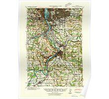 USGS Topo Map Oregon Oregon City 282776 1941 62500 Poster
