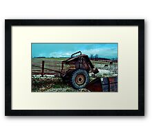 lying there in wait Framed Print