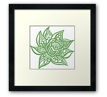lotus_green Framed Print