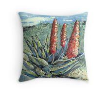Aloes in the Garden Throw Pillow