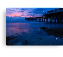 Crystal Pier after Sunset Canvas Print
