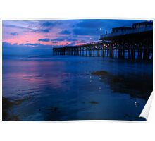 Crystal Pier after Sunset Poster