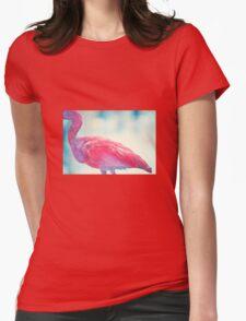 Pink Bird Womens Fitted T-Shirt