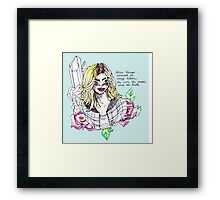 utter transparency Framed Print