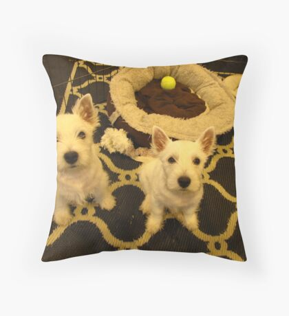 Westie Pups Throw Pillow