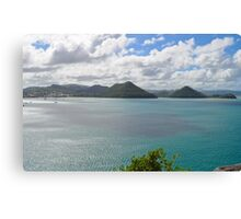 St. Lucia Landscape from Fort Rodney Canvas Print