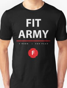 Fit Army Tank in Black/White/Red Unisex T-Shirt