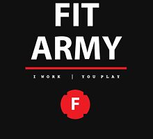 Fit Army Tank in Black/White/Red Tank Top