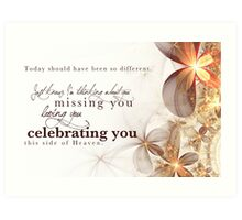Celebrating You Today Art Print