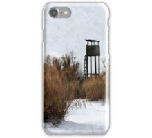 Vintage Hunting House in Winter iPhone Case/Skin