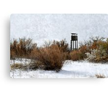 Vintage Hunting House in Winter Canvas Print