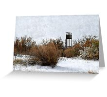 Vintage Hunting House in Winter Greeting Card