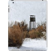 Vintage Hunting House in Winter iPad Case/Skin