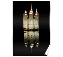 Salt Lake Temple Reflection 20x30 Poster