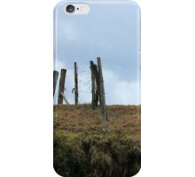 Barbed Wire Fence on a Hill iPhone Case/Skin
