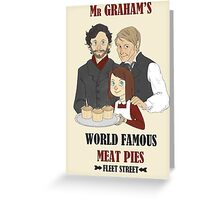 MR. GRAHAM'S MEAT PIES Greeting Card