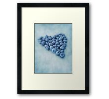 I love blueberries Framed Print