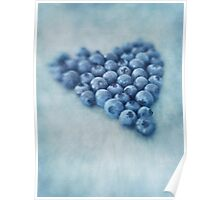 I love blueberries Poster