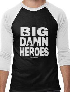 Big Damn Heroes White Men's Baseball ¾ T-Shirt