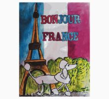 Bonjour France Kids Tee