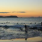 Dusk at Currumbin Rock by Justin Gittins