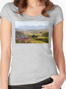 Badlands Fog Women's Fitted Scoop T-Shirt