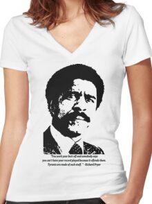 Richard Pryor Women's Fitted V-Neck T-Shirt