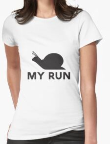 Snail Run Womens Fitted T-Shirt
