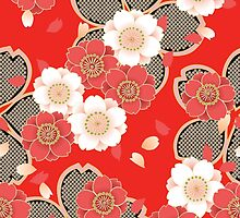 Vintage Japanese Wedding Kimono Pattern by Vicky Brago-Mitchell