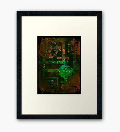 Midnight In Vector 5  Framed Print