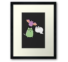 Kawaii Cat Monsters Framed Print