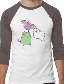 Kawaii Cat Monsters Men's Baseball ¾ T-Shirt
