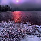 Big Lake Snow Storm by Charles &amp; Patricia   Harkins ~ Picture Oregon