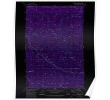 USGS Topo Map Oregon Sunset Spring 281707 1979 24000 Inverted Poster