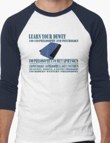 Learn your Dewey 100 Men's Baseball ¾ T-Shirt