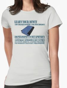 Learn your Dewey 100 Womens Fitted T-Shirt