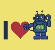 I heart robot, robot listen to heart by NewSignCreation