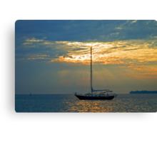 Sunrise sail Canvas Print