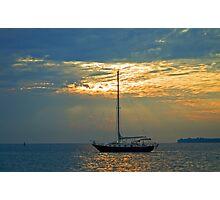 Sunrise sail Photographic Print