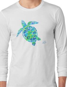 Sea Turtle no splots by Jan Marvin Long Sleeve T-Shirt