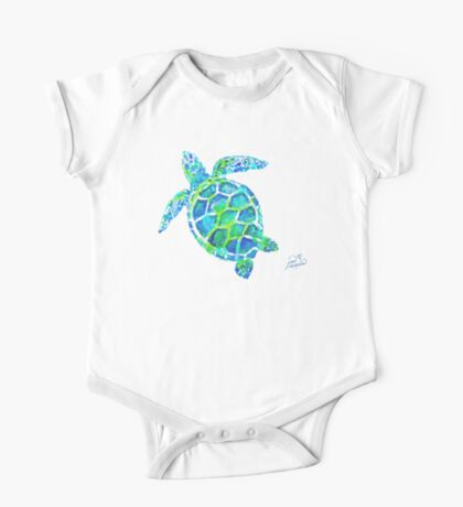 Sea Turtle no splots by Jan Marvin One Piece - Short Sleeve