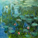 Water Lilies (or Nymphéas) Claude Monet Fine Art  by Vicky Brago-Mitchell