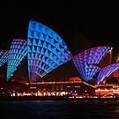 Opera House in blue &amp; red by Michael Matthews