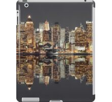 Manhattan skyline at twilight iPad Case/Skin
