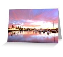 Pink Paradise - Raby Bay, Cleveland Qld Greeting Card