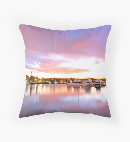 Pink Paradise - Raby Bay, Cleveland Qld Throw Pillow